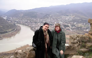 With Tamar Sirbiladze, HIV/AIDS activist in Georgia, near the ancient capital of Mtskheta