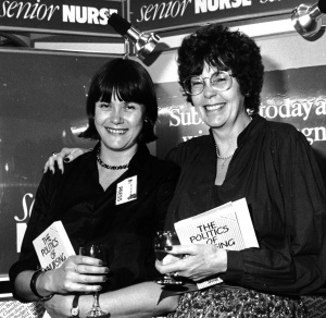 The launch of my first book in 1985 - with proud Mum!