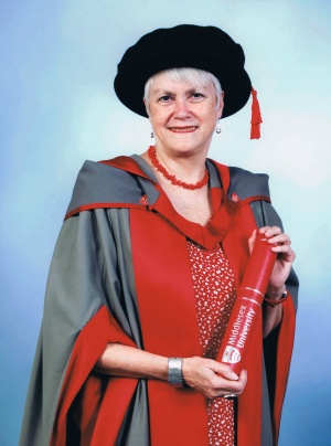 A proud moment - hon doc at Middlesex University